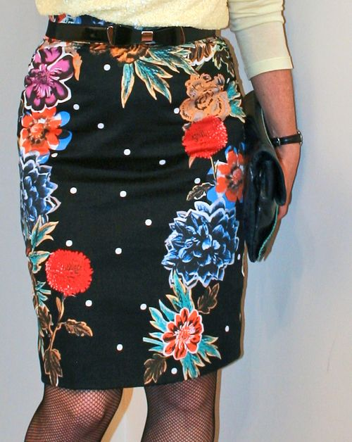 Floral pencil skirt anthropologie