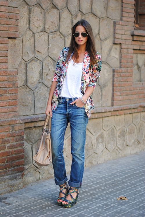 Fashion vibe floral blazer