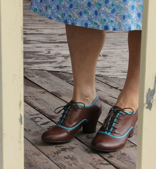 Miss mooz brown blue shoes