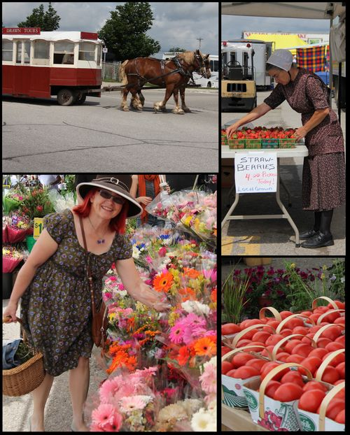 Collage st jacobs market ontario