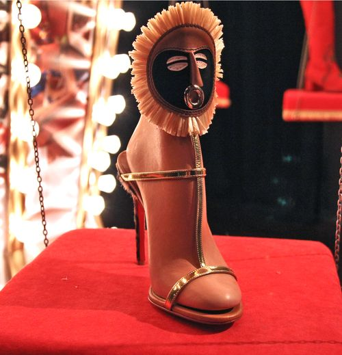 Mask louboutin shoes
