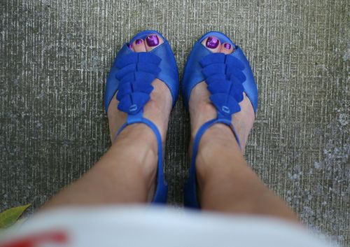 Blue miss mooz shoes