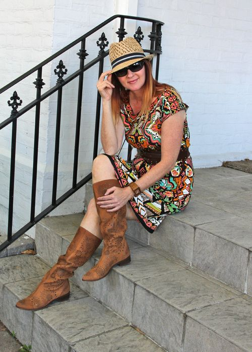 Brown laser cut anthropologie boots