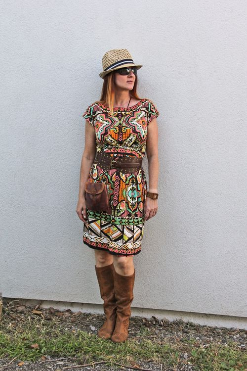 Bold patterned dress