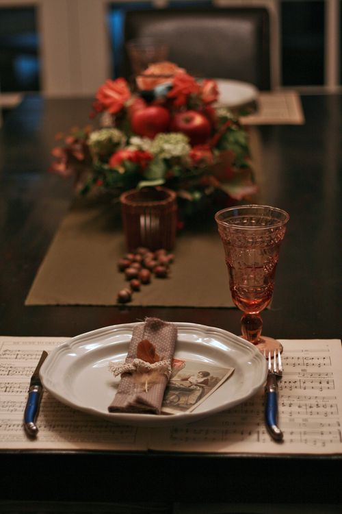 Place setting thanksgiving