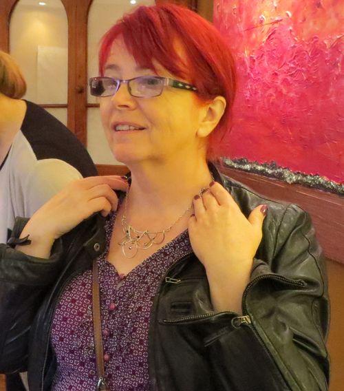 Hazel with necklace