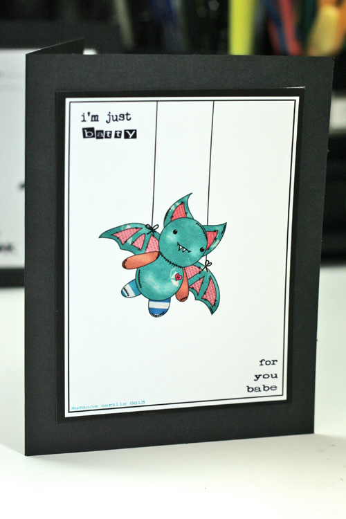 Batty for you halloween card1