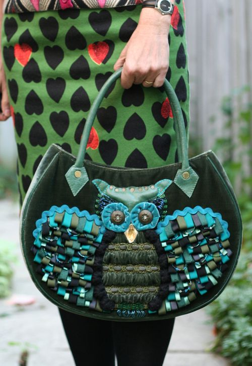 Owl anthropologie handbag