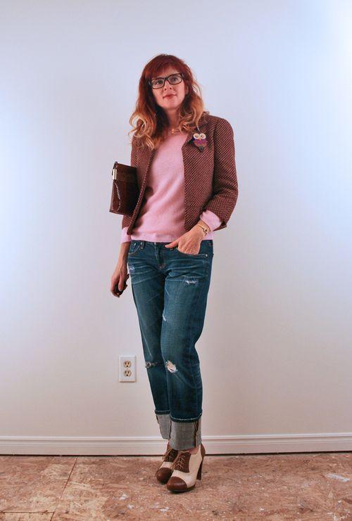 Boyfriend jeans club monaco blazer