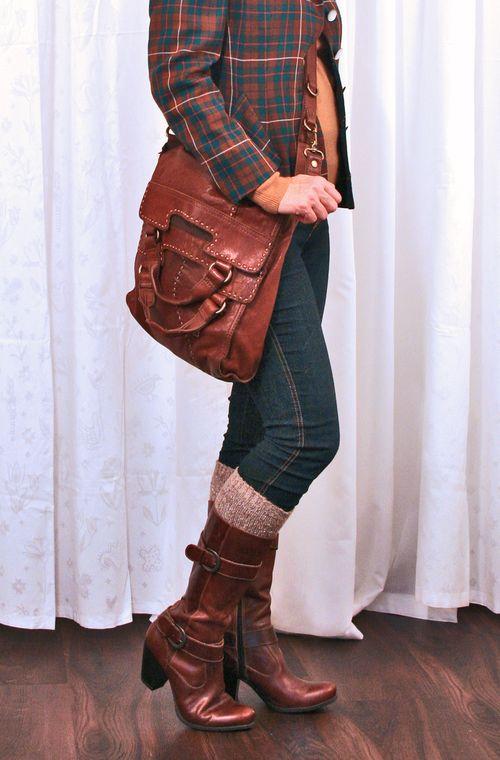 Lucky brown leather cross body handbag