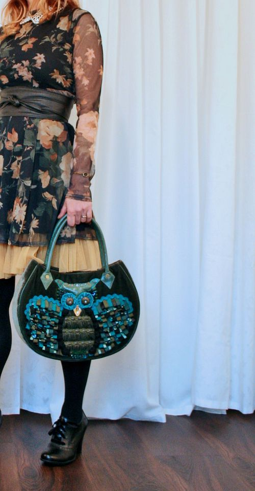 Anthropologie owl handbag