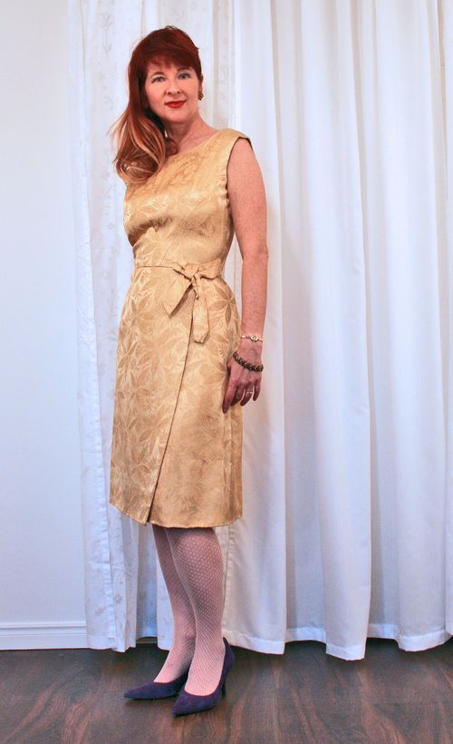 Vintage gold cocktail dress