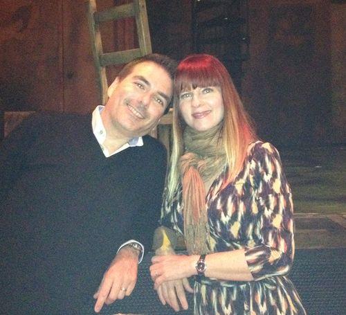 Grainy shot of us at tango show