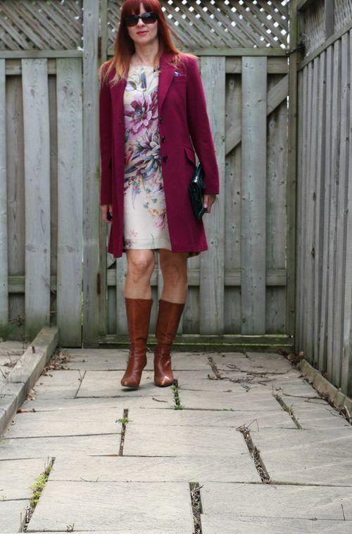 DKNY cherry coat