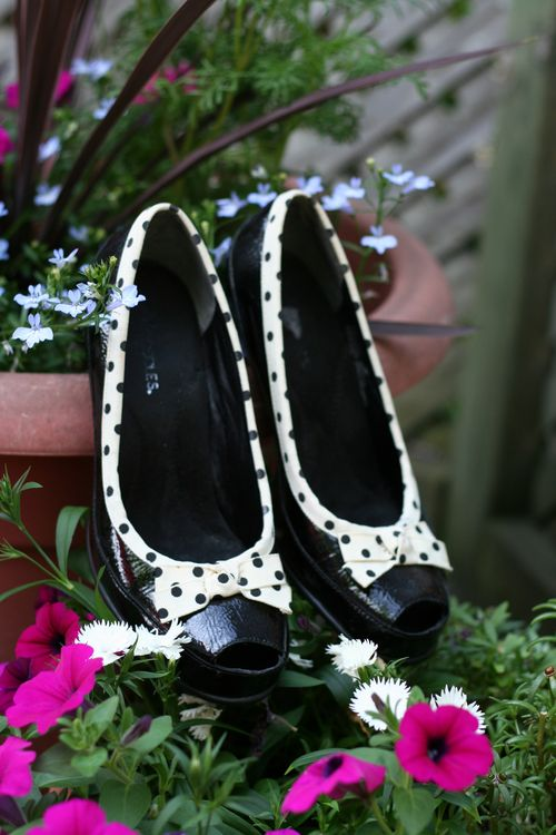 Aerosole black polkadot pumps suzanne carillo style files