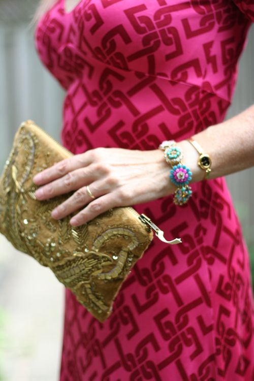 Gold anthropologie clutch chloe and isabel bracelet suzanne carillo style files