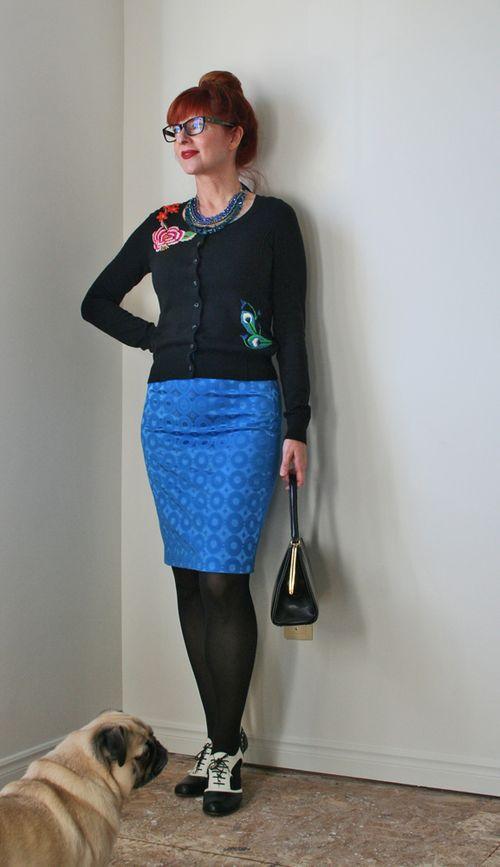 Top five blue skirt