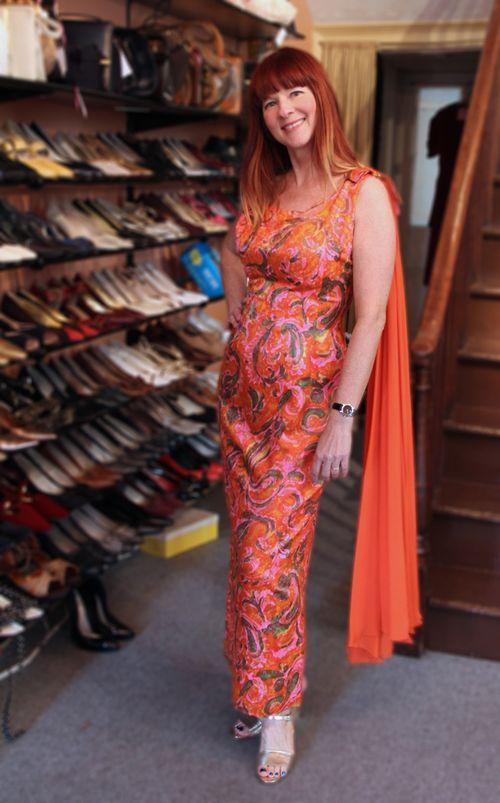 Orange gold vintage dress top five