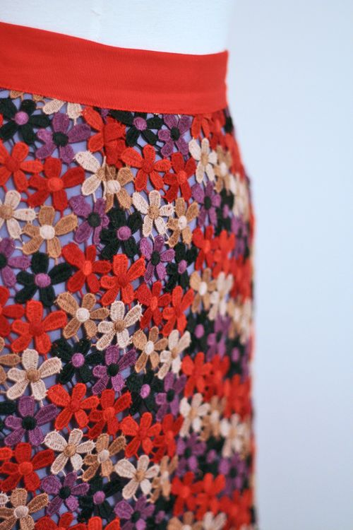 Floral overlay kate spade skirt