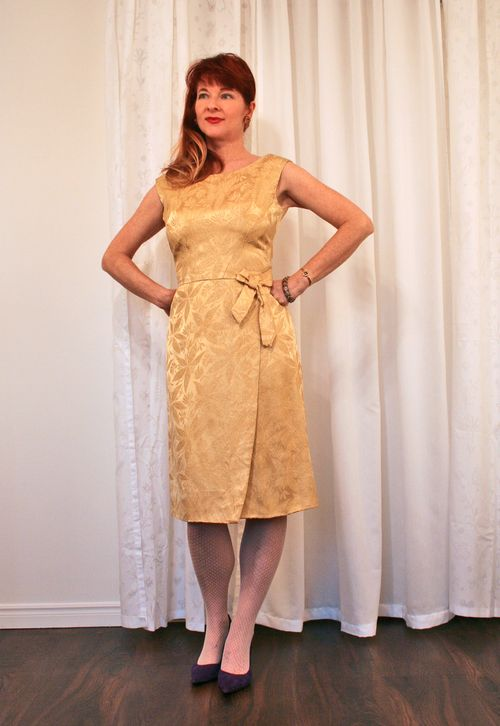 Brocade vintage cocktail dress