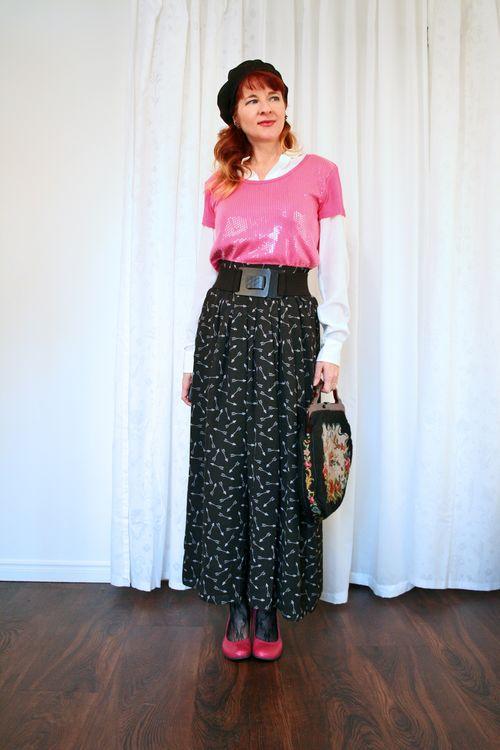 BCBG wide pants pink fluevog shoes suzanne carillo