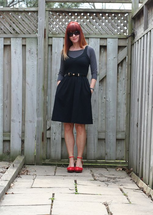 French style little black dress
