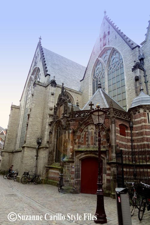 Large old church amsterdam the red light district