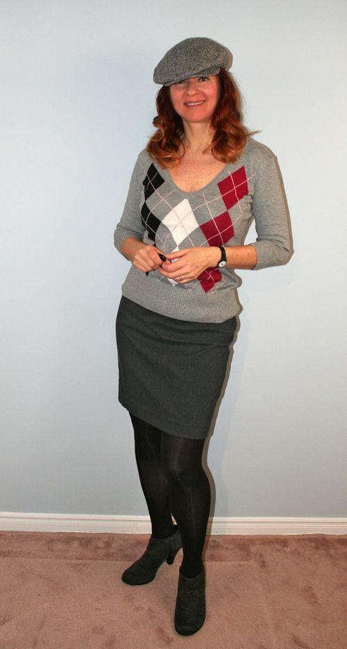 Grey pencil skirt suzanne carillo