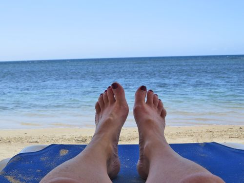 Feet on the beach jamaica 2014