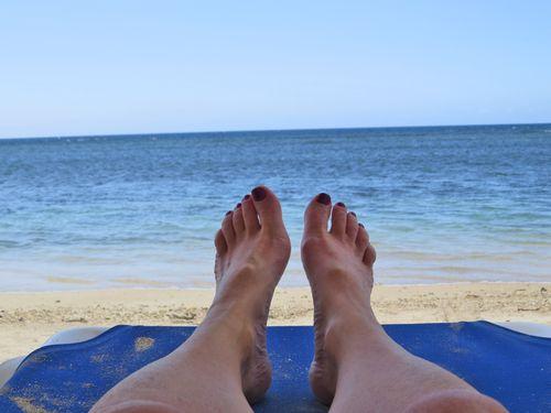 Feet on the beach jamaica 2014