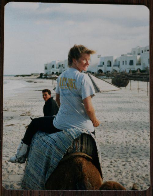 Riding a camel tunisia 1987