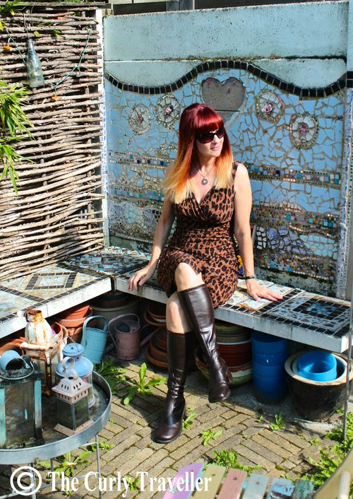 Leopard dress and boots suzanne carillo style files photo by anja of the curly traveller