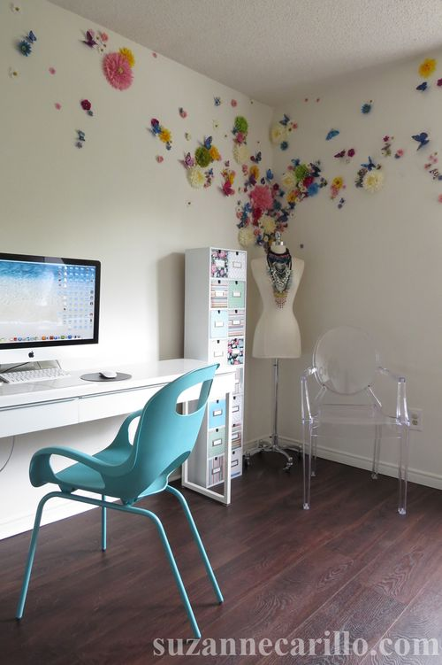 Home office decorating ideas DIY storage suzanne carillo