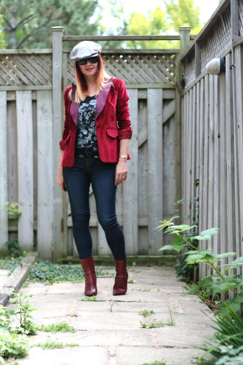 How to wear red velvet over 40 suzanne carillo style files