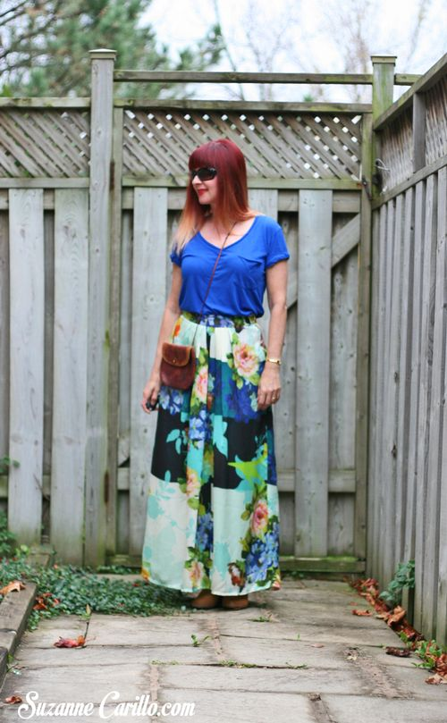 Anthropologie bold printed maxi skirt how to wear bold printed maxi skirt  suzanne carillo