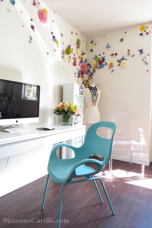 Home office decorating ideas women's office suzanne carillo style files