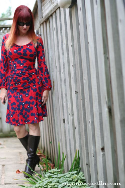Cherry print nanette lapore dress suzanne carillo how to wear red over 40