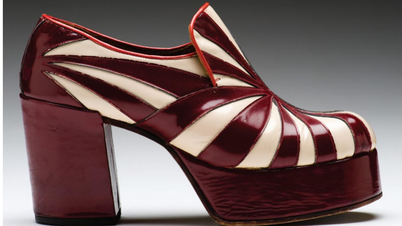 "El Ponderoso platform shoe, ""The Heights of Fashion: Platform Shoes Then and Now,"" Mint Museum, Charlotte, NC."