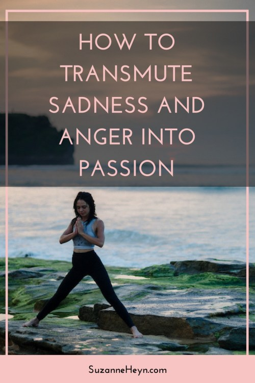 Click through to discover how to transmute sadness and anger into passion. spirituality meditation healing yoga