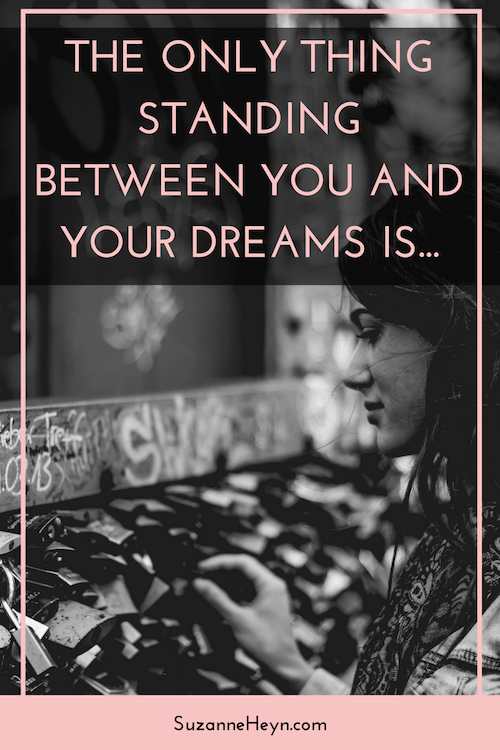 Click through to discover the only thing that's standing between you and your dreams, life purpose, happiness, peace, love joy and fulfillment.