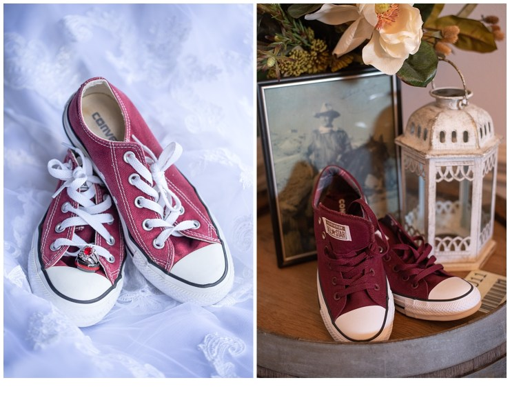 Pink and Burgundy Converse