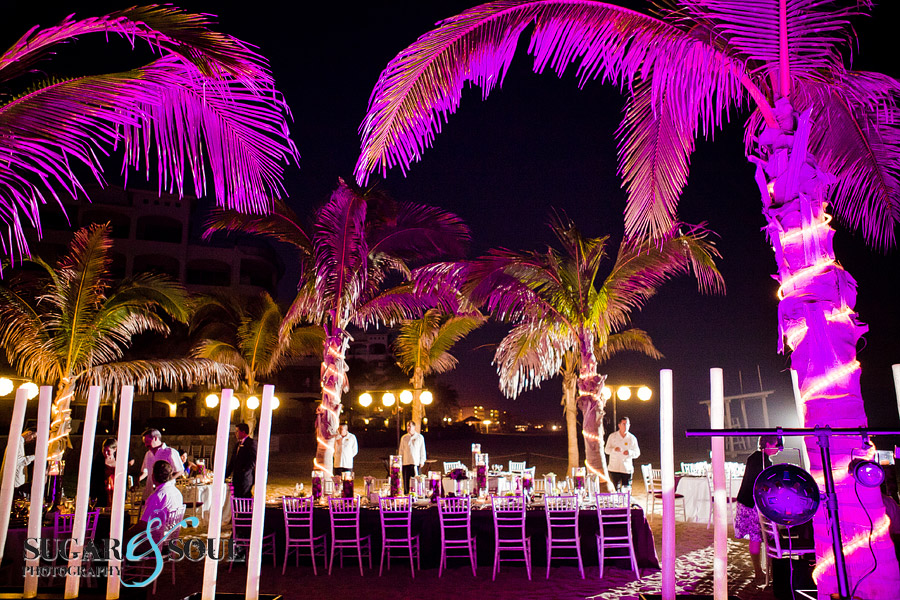 Bareclo Los Cabos wedding decor and linens designed by Suzanne Morel