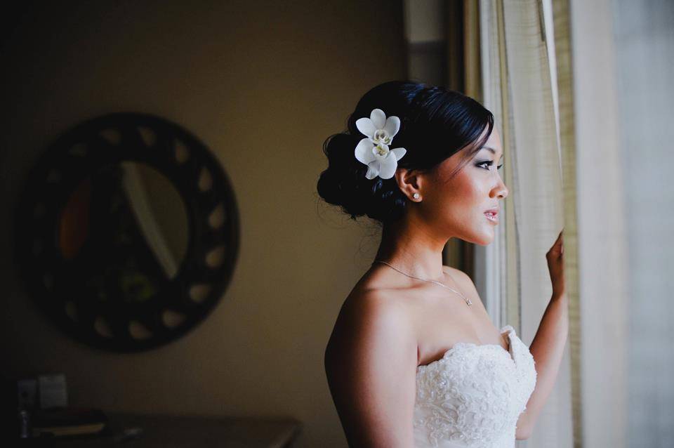 Asian wedding hair and make-up at Dreams Los Cabos by Suzanne Morel team