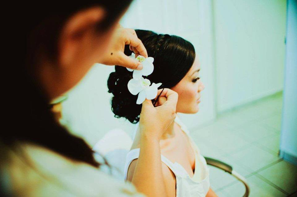 Asian wedding hair and make up by Suzanne Morel in Los Cabos