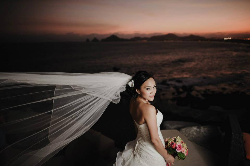 Wedding at Restaurant Sunset Da Mona Lisa in Cabo San Lucas - hair and make-up Suzanne Morel