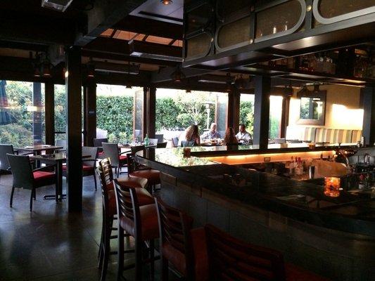 Bar/patio side of Tamarind London