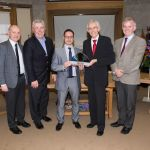 Presentation to Dr. Brendan Murphy, President of Cork Institute of Technology. Glass art by Suzanne O'Sullivan