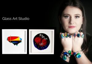 Banner image showing work from Suzann O'Sullivan's Glass Studio