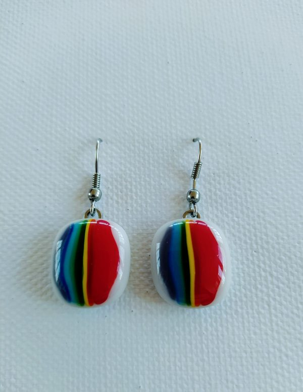 Rainbow Glass Earring