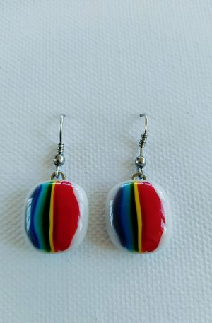 Rainbow Glass Earring